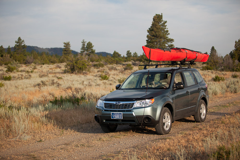 Subaru with Kayak